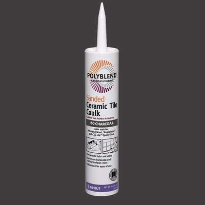 Custom Building Products Polyblend Charcoal Siliconized Acrylic Caulk 10.5 oz.