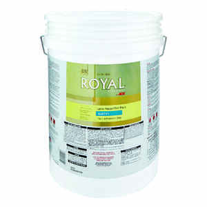 Ace  Royal  Satin  White  House & Trim Paint & Primer  5 gal. Acrylic Latex