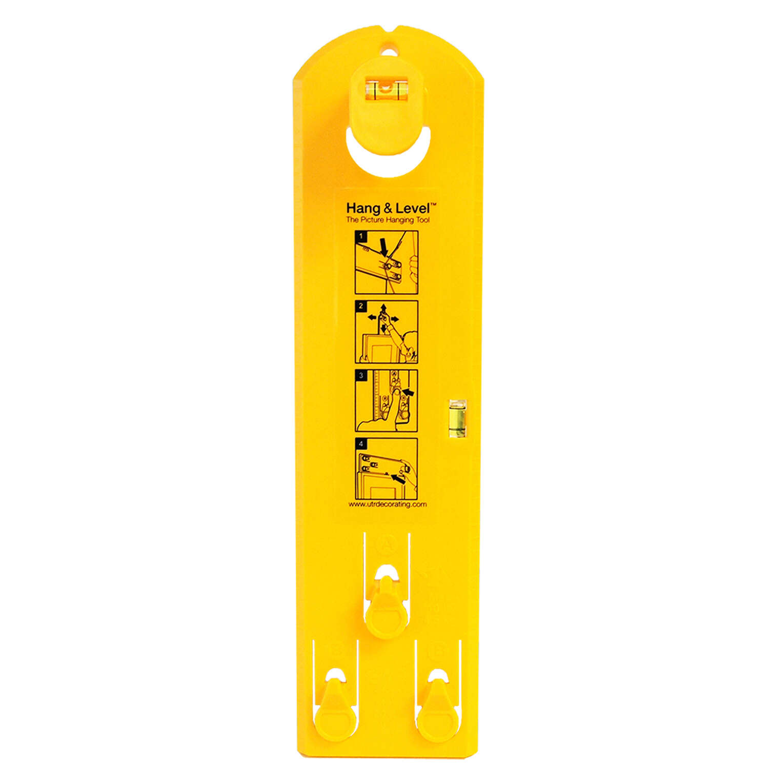 Hang and Level Yellow Hang and Level 10 lb. 1 pk Picture Hanger ...