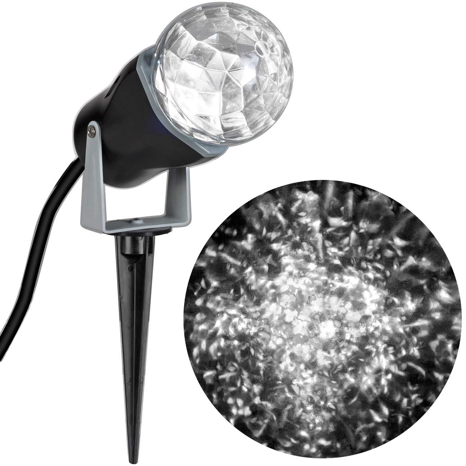 Gemmy  Lightshow  Kaleidoscope  LED  Kaleidoscope Spotlight  White  3 lights