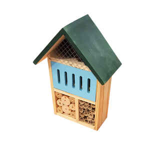 Alpine  12 in. H x 4.4 in. W x 4.4 in. L Wood  Insect House
