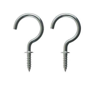 Ace  Medium  Silver  Stainless Steel  1-1/2 in. L Hook  30 lb. 2 pk