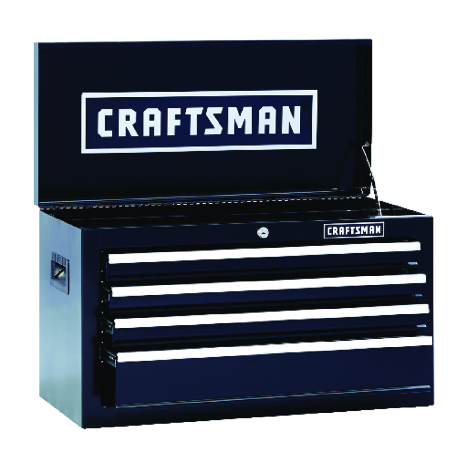 Craftsman  26 in. 4 drawer 12 in. D Top Tool Chest  Black  Steel