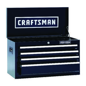 Craftsman  26 in. 12 in. D x 15-1/4 in. H Steel  Top Tool Chest  Black  4 drawer