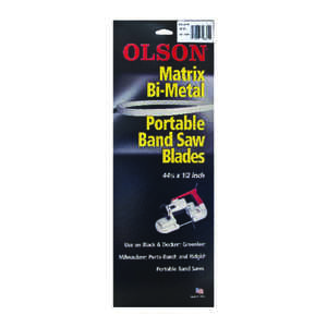Olson  44.9  L x 0.02 in.  x 0.5 in. W Bi-Metal  Band Saw Blade  Regular  1 pk 18 TPI