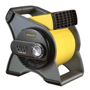 Lasko  Stanley  12-1/4 in. H 3 speed Blower Fan