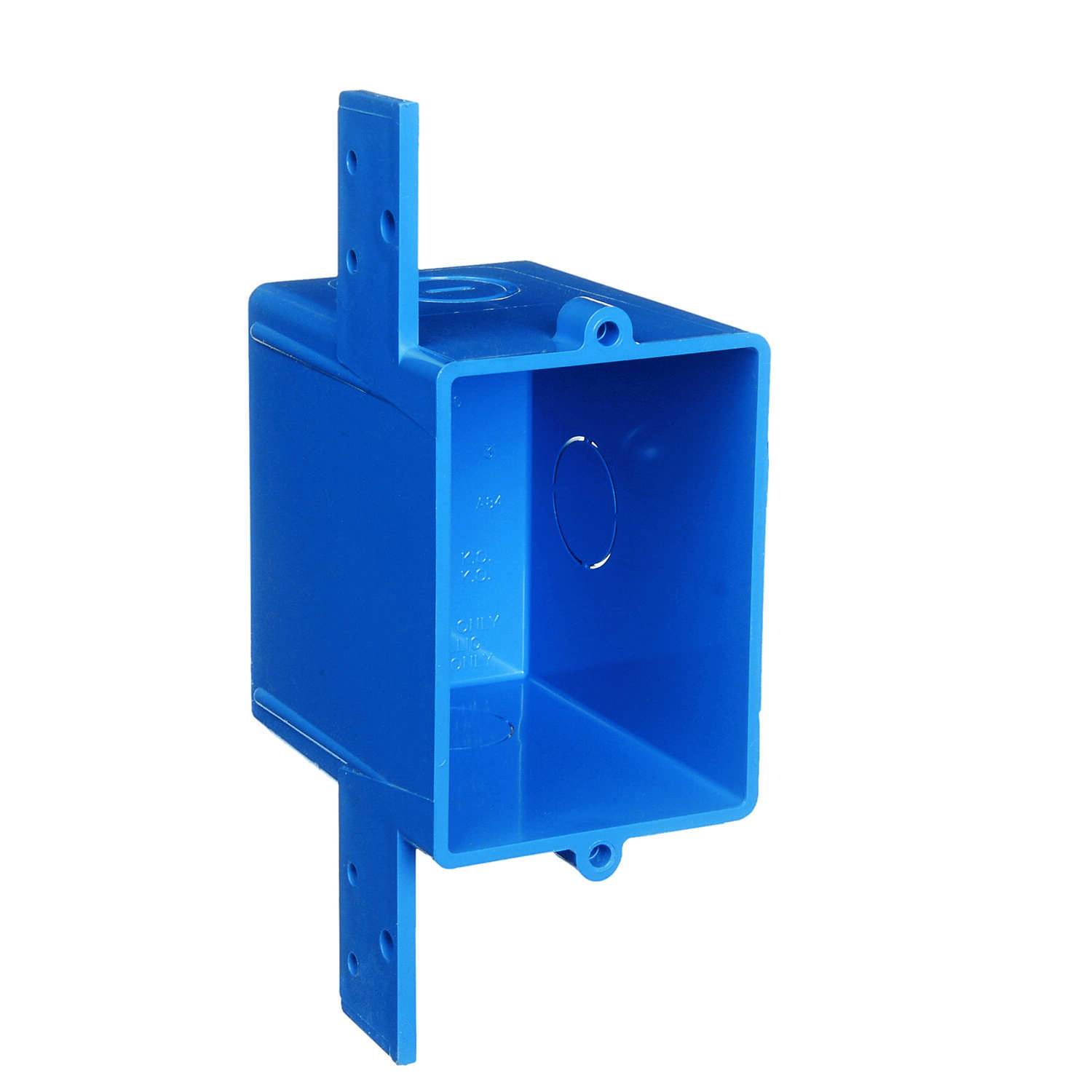 Carlon  Rectangle  1 Gang  Outlet Box  2.92 in. Blue  PVC