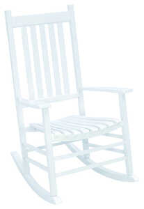 Jack-Post  Mission  White  Wood  Knollwood  Rocker Chair