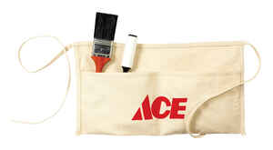 Ace  Heavy Duty 2 pocket Cotton  Waist Apron  White  1 pk