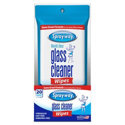 Sprayway Fresh Scent Glass Cleaner 20 pk Wipes