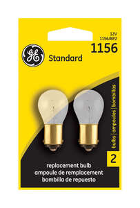 GE Miniature Lamps 1156BP For Turn Signal, Stop, Tail and Parking 12 volts 2 Carded