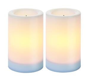 Paradise  White  Candle  5 in. H x 3 in. Dia.