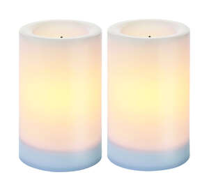Paradise Lighting  White  Candle  5 in. H x 3 in. Dia.