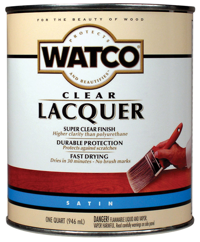Watco  Lacquer  Wood Finish Lacquer  1 qt. Clear