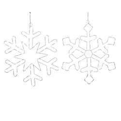 Lumineo  LED  Twinkling Snowflake  String Light Set  Cool White