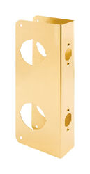 Prime-Line  12.72 in. H x 2-1/8 in. L Brass-Plated  Brass  Recessed Door Reinforcer