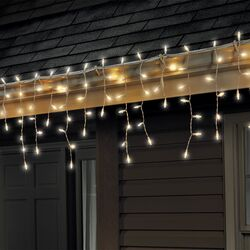 Celebrations LED Mini Clear/Warm White 100 count String Christmas Lights 6 ft.