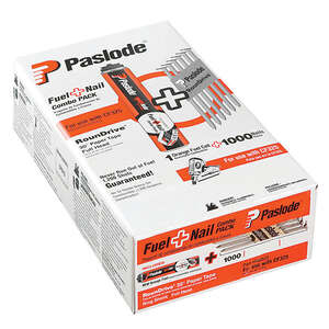 Paslode  18 Ga. Smooth Shank  Angled Coil  Fuel and Nail Kit  2-3/8 in. L x 0.11 in. Dia. 1000 pk