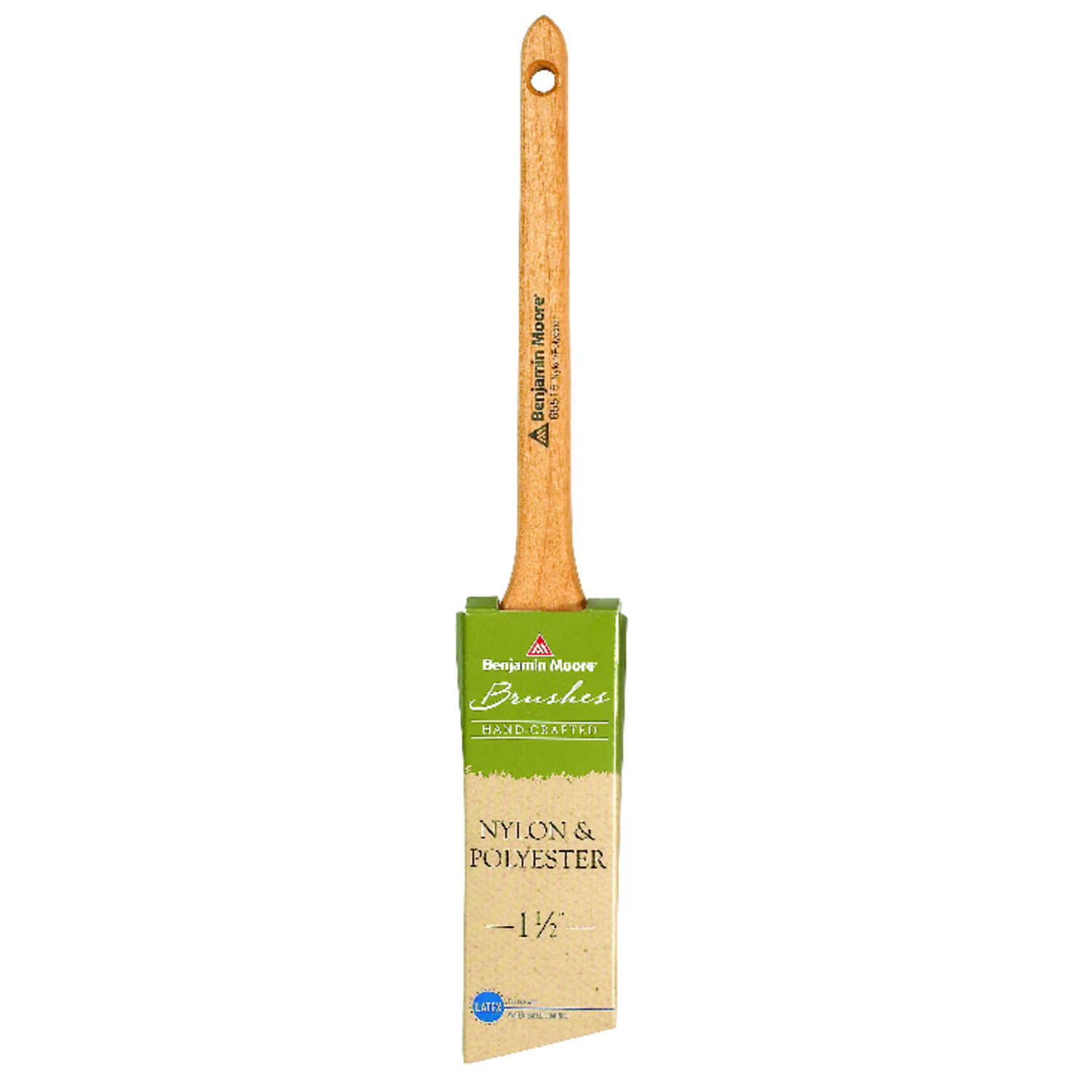 Benjamin Moore  1 1/2 in. W Angle  Nylon Polyester  Paint Brush