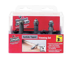 Vermont American  1/4 in. Dia. x Multi Size in.  x 4 in. L Carbide Tipped  laminate trim  Router Bit