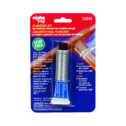 Alpha Fry 0.75 oz. Lead-Free Plumbers Kit 0.062 in. Dia. Silver-Bearing Alloy 1 pc.