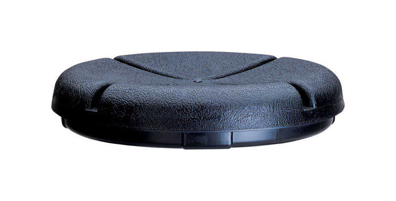 CLC  12 in. Plastic  Bucket Seat Lid  12 in. W x 2.25 in. H Black