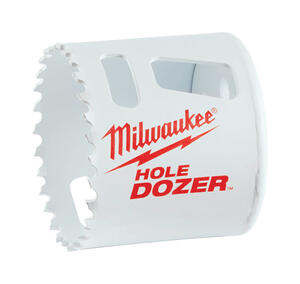 Milwaukee  Hole Dozer  3 in. Dia. x 1.9 in. L Bi-Metal  Hole Saw  1/4 in. 1 pc.