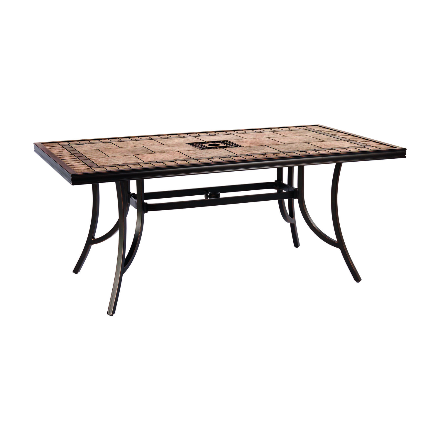Living Accents  Brown  Cassara  Dining Table  Rectangular