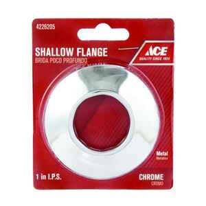 Ace  1 in. Shallow Flange  Metal
