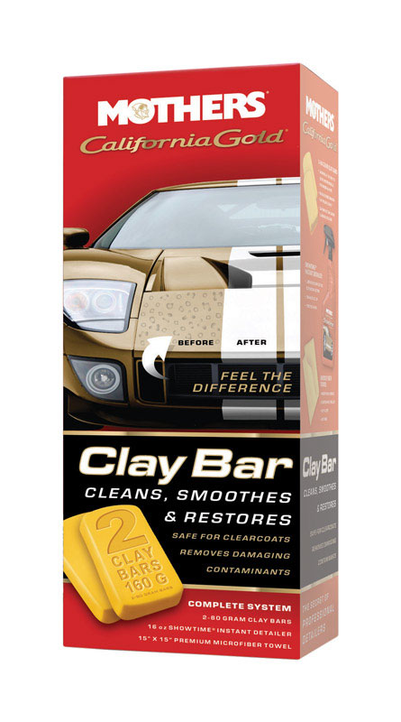 Mothers  California Gold Clay Bar  Solid  Automobile Wax and Polish  2 pk For Removing Paint Over Sp