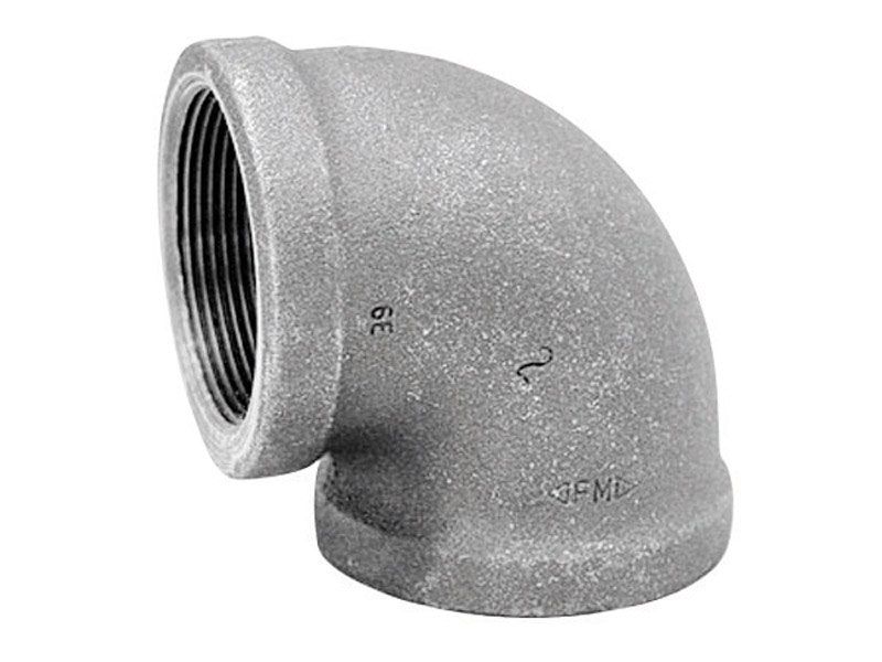 Anvil  3/8 in. FPT   x 3/8 in. Dia. FPT  Galvanized  Malleable Iron  Elbow
