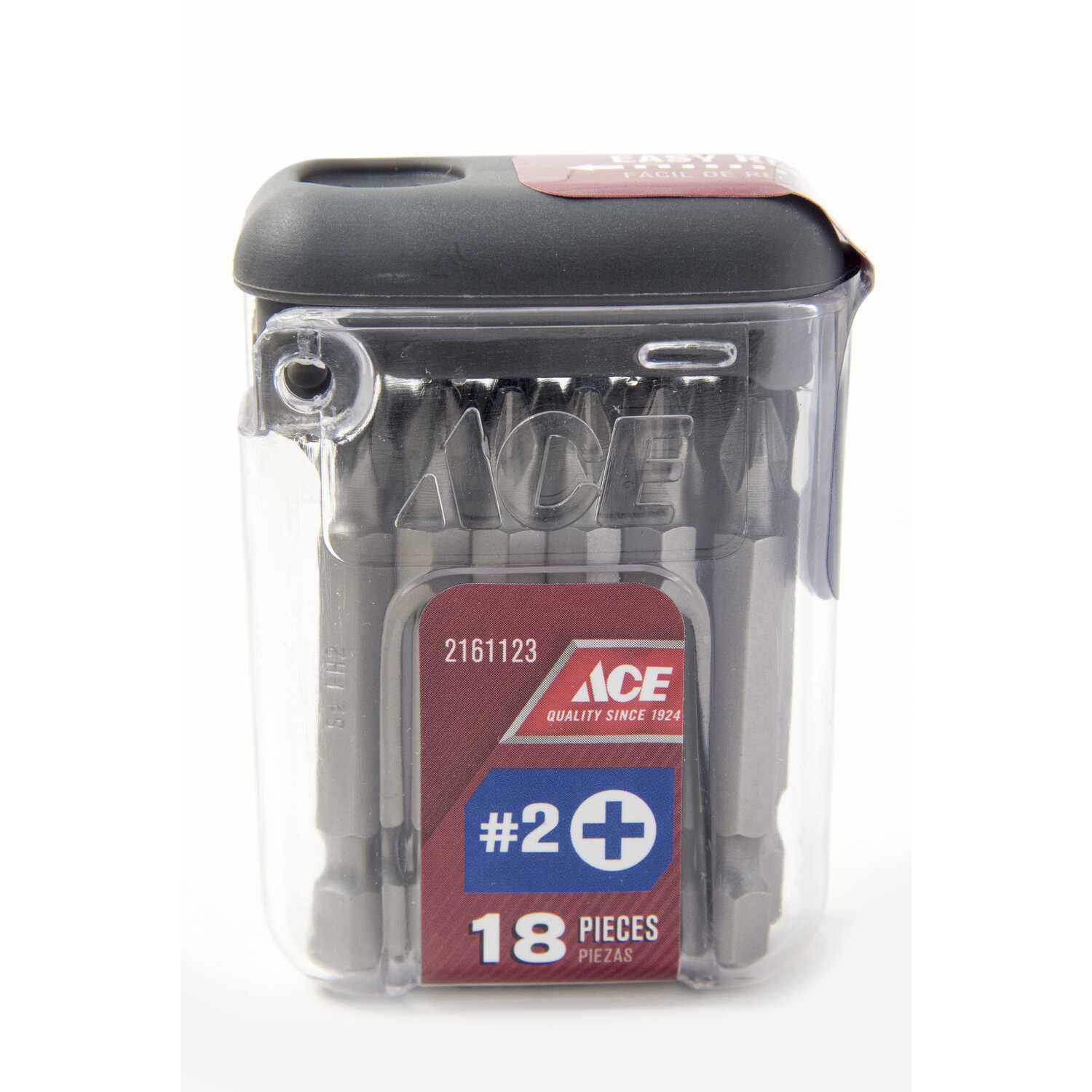 Ace  2   x 2 in. L Phillips  Screwdriver Bit  1/4 in. 18 pc. Quick-Change Hex Shank  S2 Tool Steel
