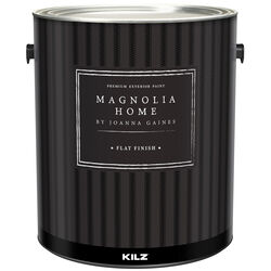 Magnolia Home by Joanna Gaines  Kilz  Flat  Black  Base 3  House Paint  Exterior  1 gal.