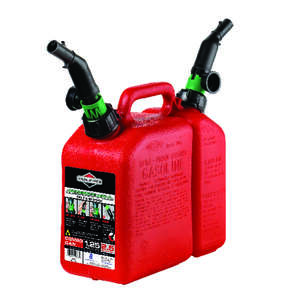 Briggs & Stratton Combination Gas and Oil Can 1-1/2 gallon and 2-1/2 quart CARB and TSG approved Pla