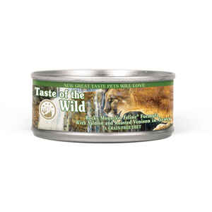 Taste of the Wild  Rocky Mountain Feline  Venison & Salmon  Minced  Cat  Food  Grain Free 5.5 oz.