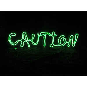 Sylvania  Battery Operated Caution Window Decor  Lighted Halloween Decoration  12 in. H x 24 in. W 1