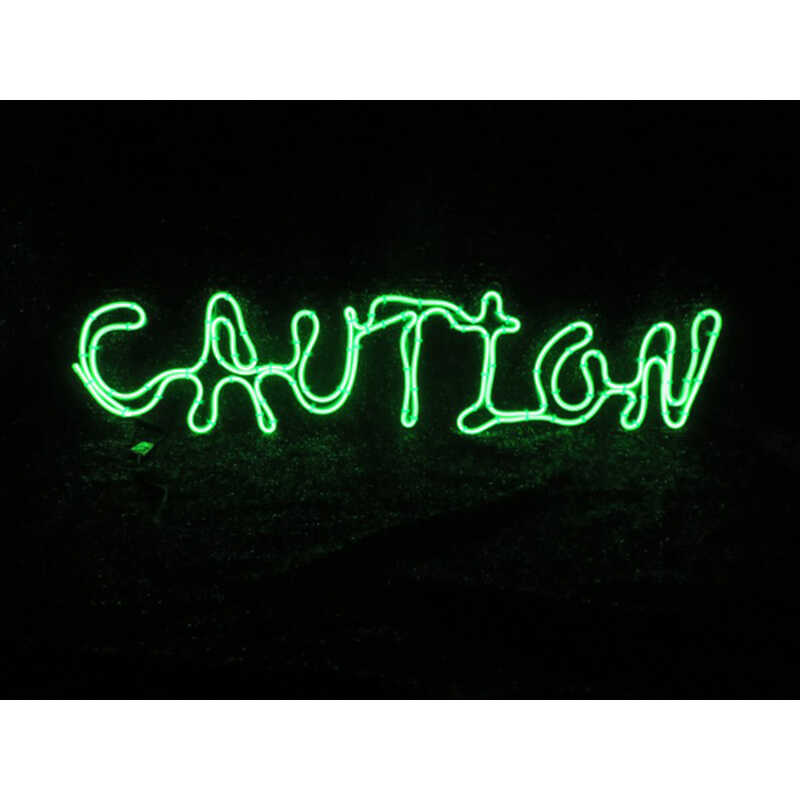 Sylvania  Battery Operated Caution Window Decor  Lighted Halloween Decoration  12 in. H x 2 ft. L 1