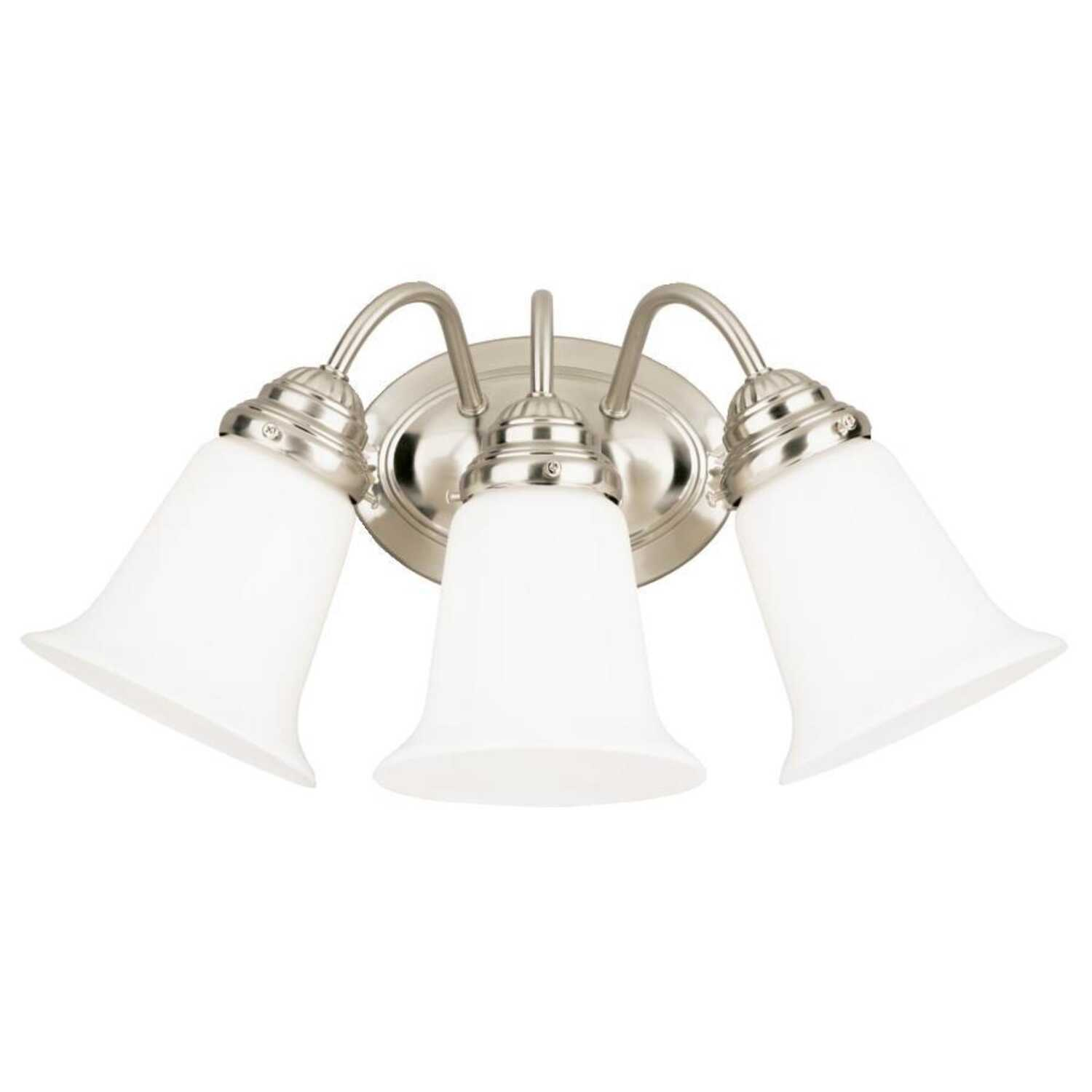 Westinghouse  Brushed Nickel  3  Wall Sconce  White