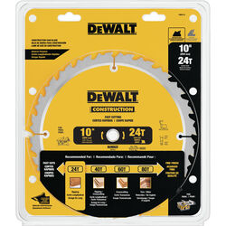 DeWalt  10 in. Dia. x 5/8 in.  Carbide  Circular Saw Blade  24 teeth 1 pk