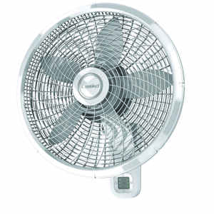 Lasko  22.5 in. H x 18 in. Dia. 3 speed Oscillating Wall Mount Fan