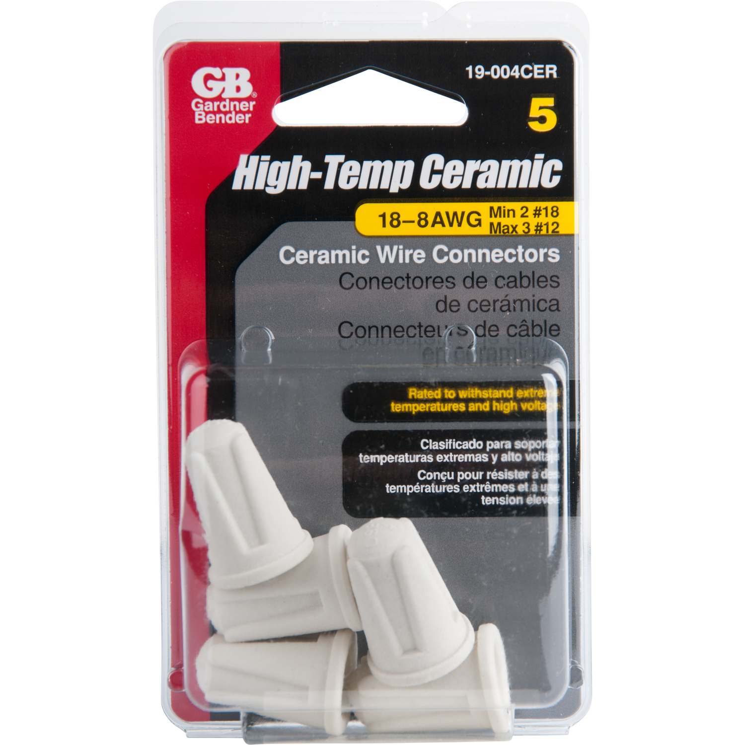Gardner Bender  High Temp Ceramic Wire Connectors  35/64  Dia. 5 pk