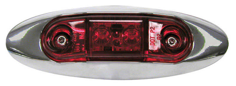 Peterson  Rectangle  Clearance Light Kit  Red