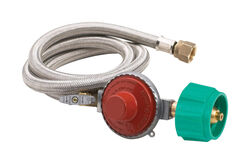 Bayou Classic  Stainless Steel  Gas Line Hose and Regulator  For Gas Grills 48 in. L