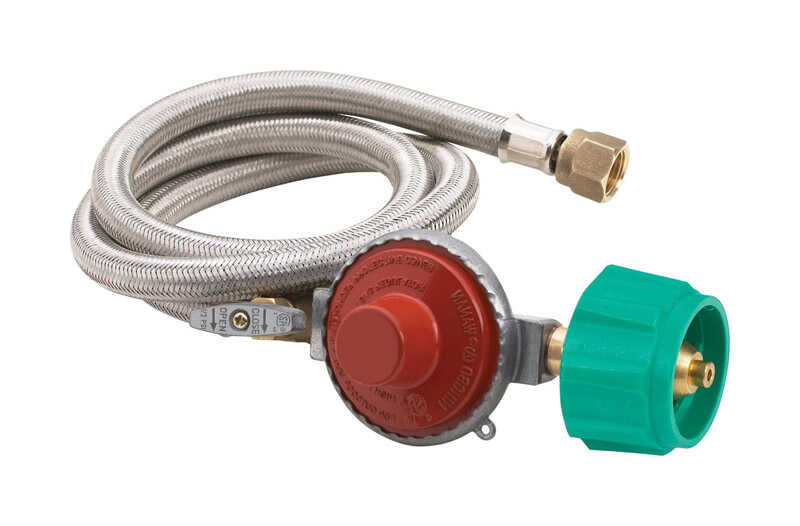 King Kooker  Stainless Steel  Gas Line Hose and Regulator