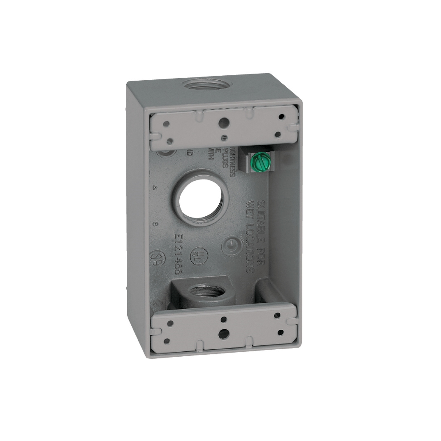 Sigma  4-1/2 in. Rectangle  Outlet Box  Gray  1 Gang  Aluminum