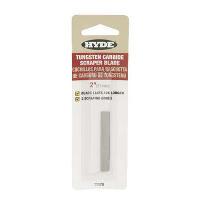 Hyde 2 in. W Tungsten Carbide Double Edge Replacement Blades
