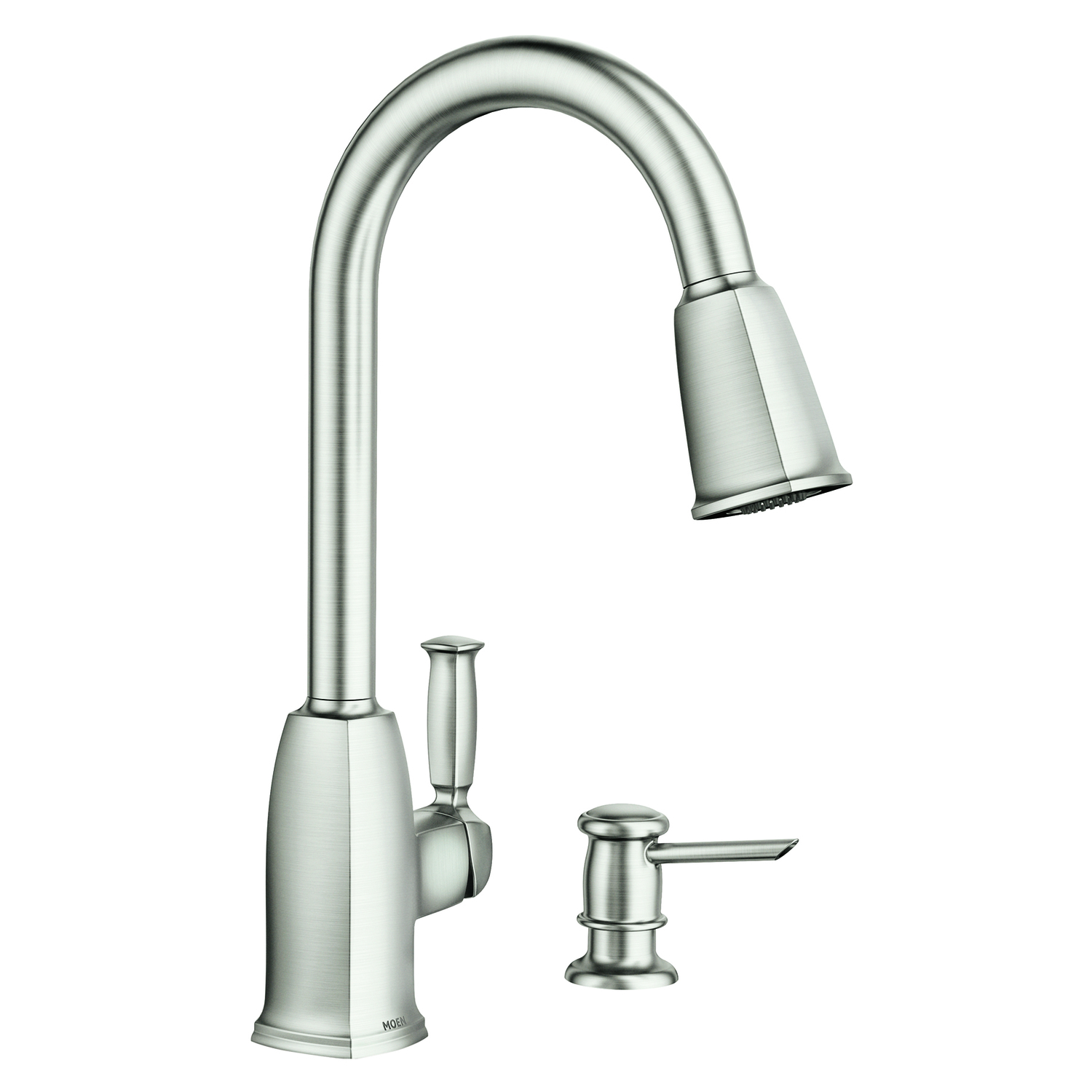 Moen Wellsley Pulldown Kitchen Faucet Stainless Steel One Handle - Ace hardware kitchen faucets