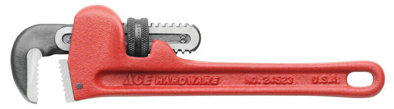 Ace  Pipe Wrench  8 in. Cast Iron  1 pc.