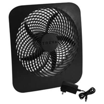 O2 Cool 12.8 in. H x 10 in. Dia. 2 speed Battery Personal Fan