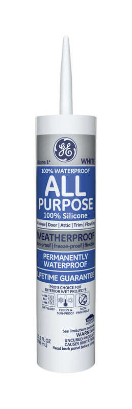 GE  Silicone 1  White  Silicone 1  All Purpose  Silicone  10.1 oz.